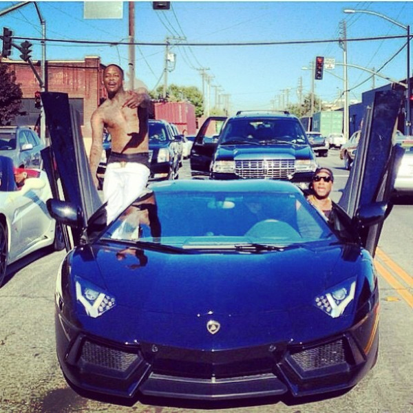 yo gotti and Ti in lamborghini Aventador