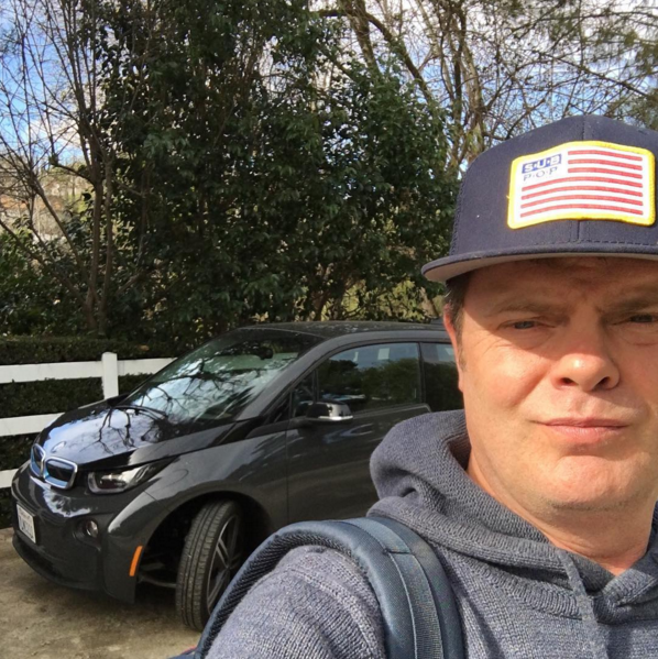 BMW I3 For Sale >> Rainn Wilson Drives a BMW i3! | Celebrity Cars Blog