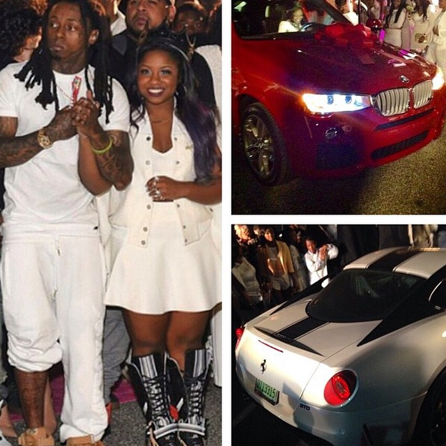 Lil' Wayne's Daughter Receives TWO Cars For Her Sweet