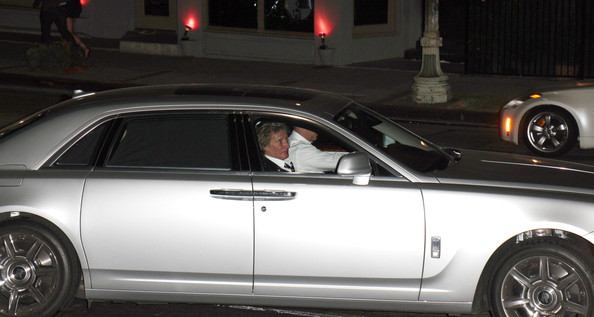 Rod Stewart: Family Night Out In The Rolls Royce