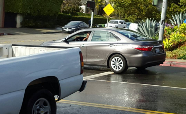samuel l  jackson spotted in a toyota camry