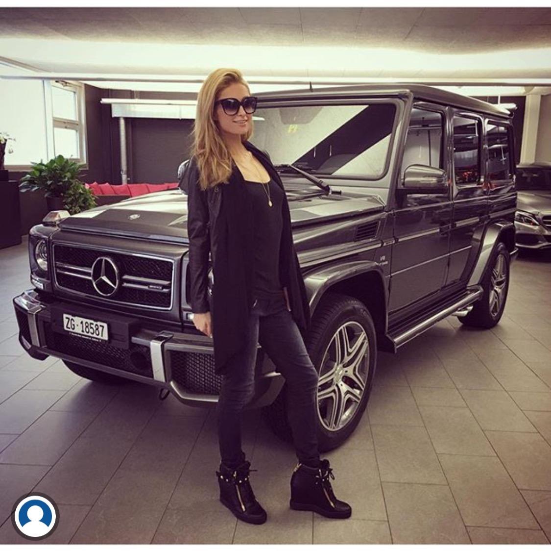 Mercedes G550 For Sale >> Paris Hilton Gets a Surprise Mercedes G Wagon AMG | Celebrity Cars Blog