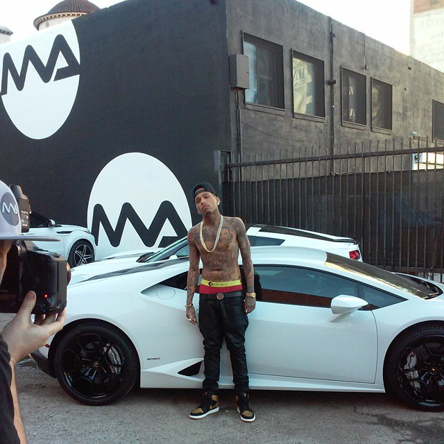 Kid Ink Likes His Rides White Celebrity Cars Blog